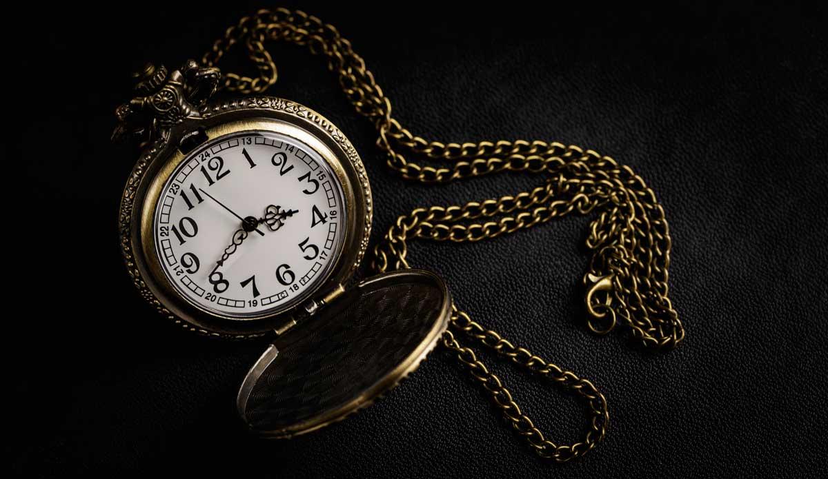Wertvolle Taschenuhr aus Gold