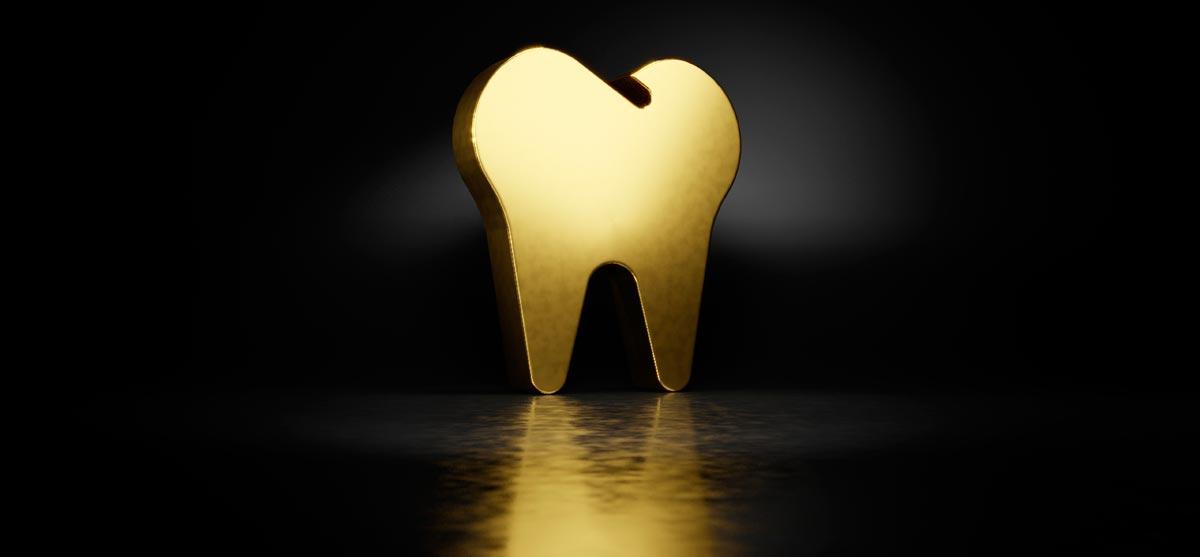 Goldener Zahn - Symbolbild