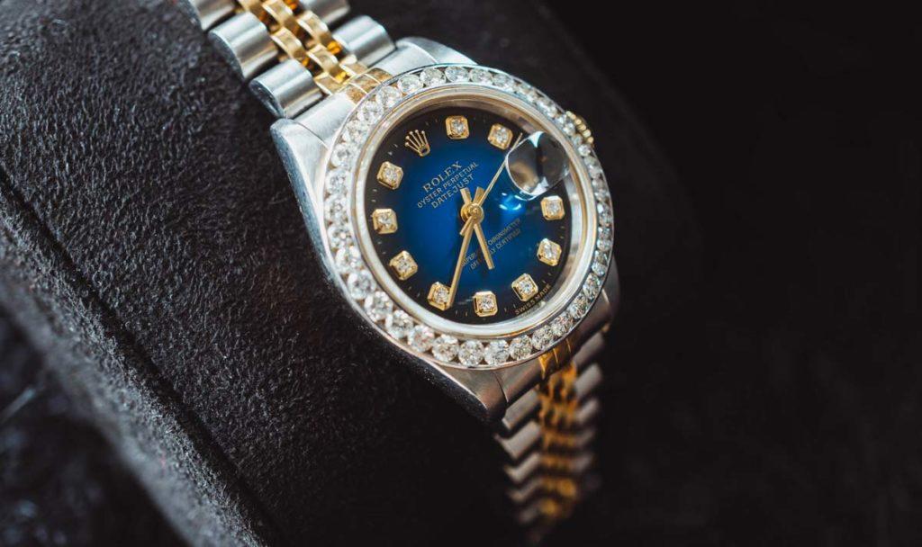 Rolex Oyster Perpetual Date Just mit Edelsteinbesatz