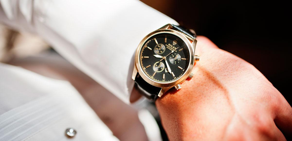 Rolex Oyster Perpetual Date Just am Handgelenk