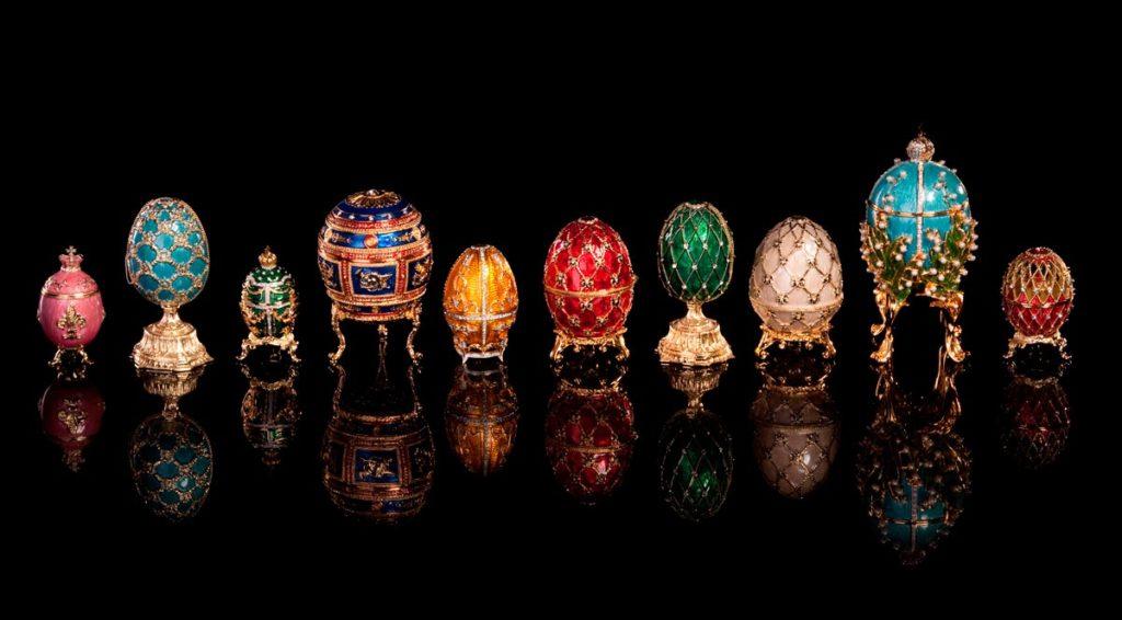 verschiedene faberge-eier