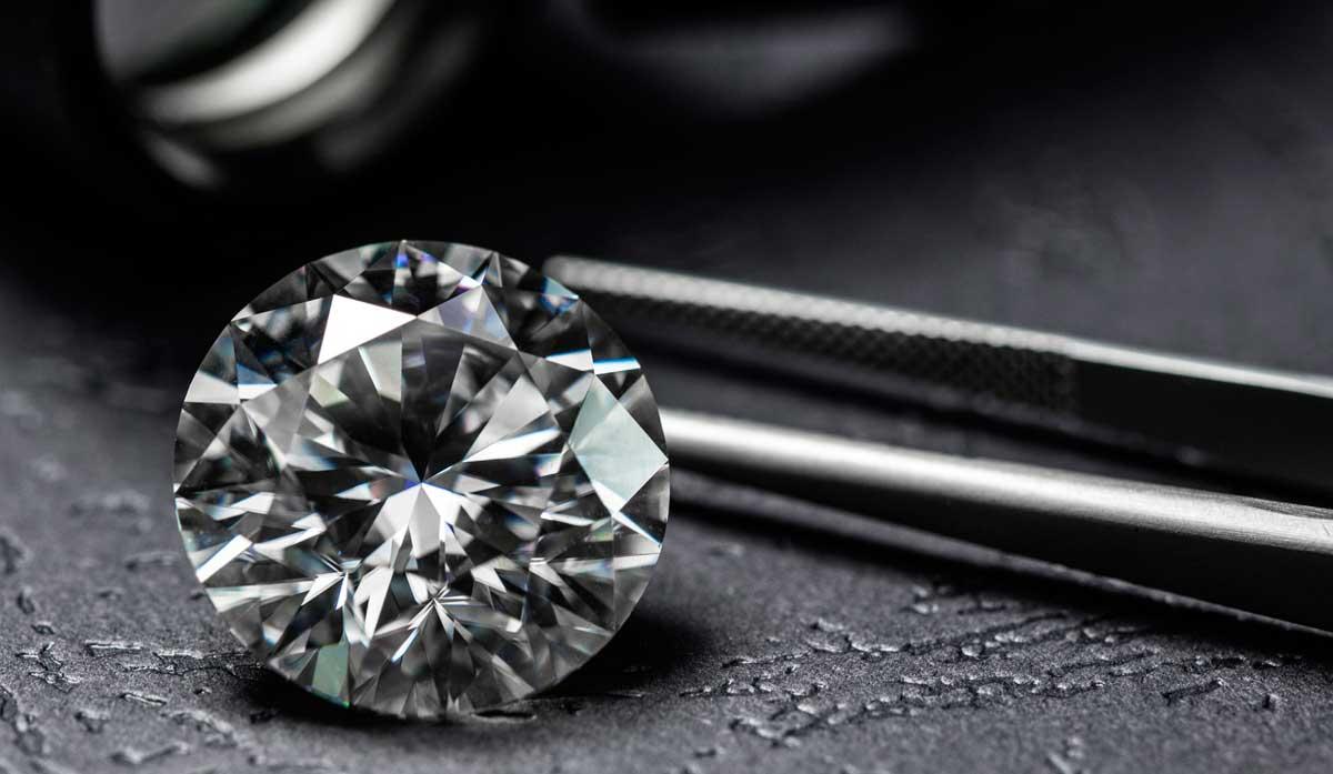 Diamant im Brillantschliff